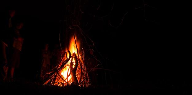 Bonfire at the farm